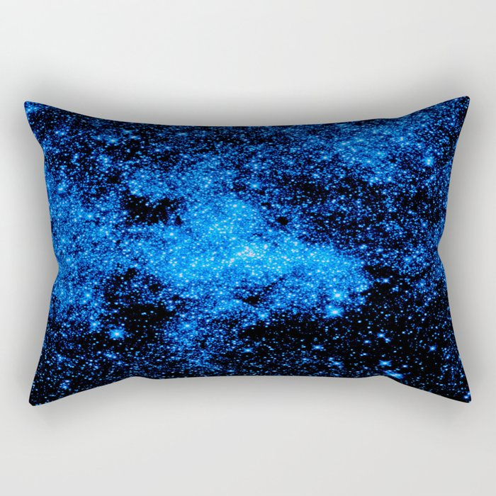 gALAXy Midnight Blue Stars Rectangular Pillow