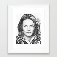 house md Framed Art Prints featuring Dr. Cameron-House MD-Jennifer Morrison-Portrait by Olechka