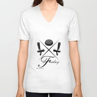 friday V-neck T-shirts featuring Friday by visionalfreeman