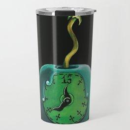 Haunted Mansion 13th Hour Clock Apple Travel Mug