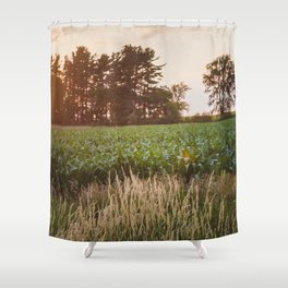 Sunsets and Corn Fields Shower Curtain
