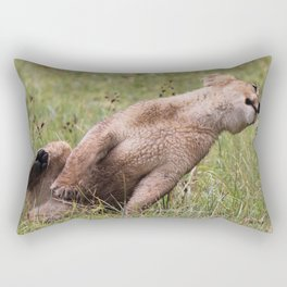 Silly lion cub Rectangular Pillow