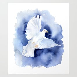 Dove Watercolor Art Print