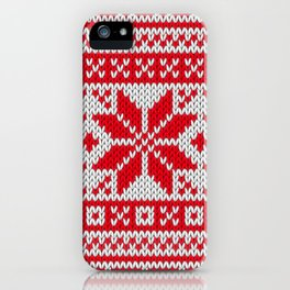 Winter knitted pattern 6 iPhone Case