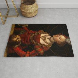 "Lucas Cranach the Elder ""Judith with the Head of Holofernes"" 1. Rug"