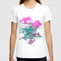 teal T-shirts featuring Teal by Kat Aviles