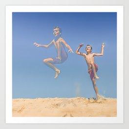 Jump ! Art Print