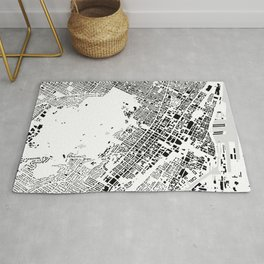 Montreal building city map Rug
