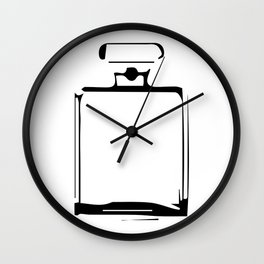 """"""" Nowhere Collection"""" - Minimal Perfume Bottle Print Wall Clock"""
