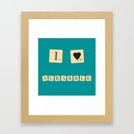 I heart Scrabble Framed Art Print
