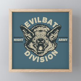 Evil Bat Division Framed Mini Art Print