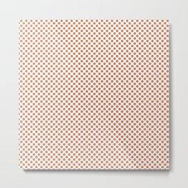 Coral Gold Polka Dots Metal Print