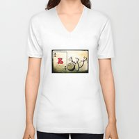 baseball V-neck T-shirts featuring Baseball by Funniestplace