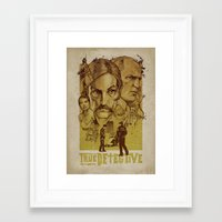 true detective Framed Art Prints featuring True Detective by Albert Blanchet