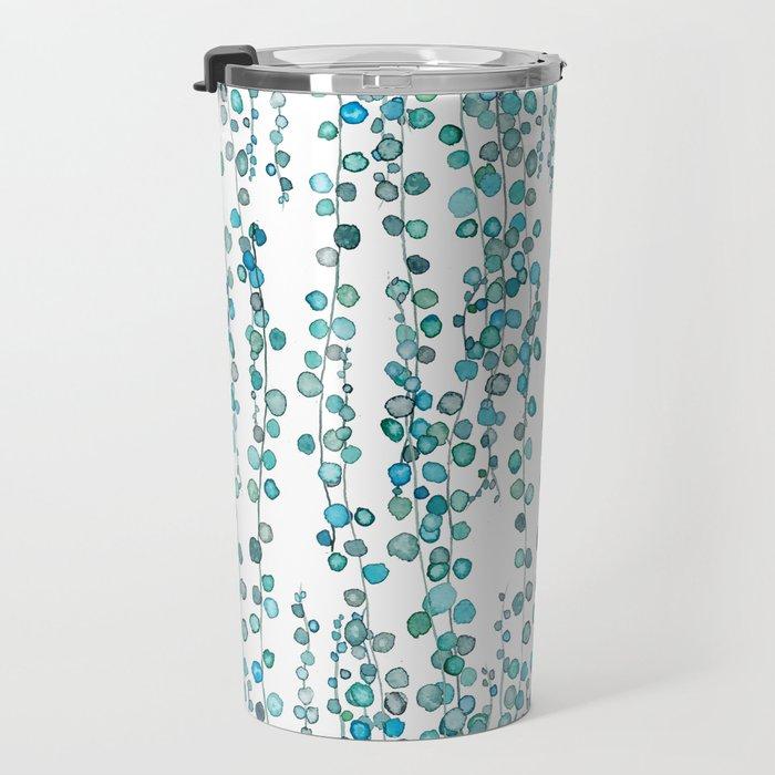 string of pearl watercolor Travel Mug