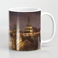 edinburgh Mugs featuring Glowing Edinburgh by Svetlana Sewell