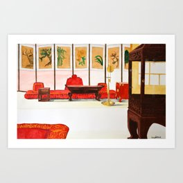 Queen's Room Art Print