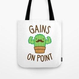 Gains On Point (Cactus Pun) Tote Bag