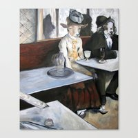 degas Canvas Prints featuring Degas' Goat Drinking Absinthe  by MollyK