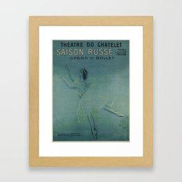 Vintage poster - Saison Russe Framed Art Print