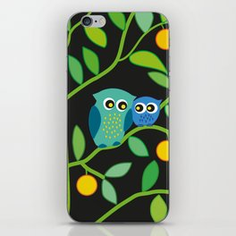Owls in the dark iPhone Skin