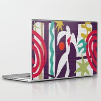 matisse Laptop & iPad Skins featuring Inspired to Matisse (violet) by Chicca Besso