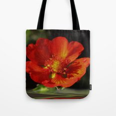 Little red Bloom Tote Bag