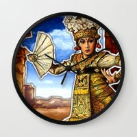 bali Wall Clocks featuring Bali Dancer by yadi sudjana