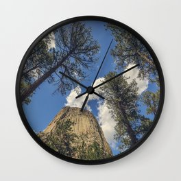 Close Encounters with Devils Tower Wall Clock