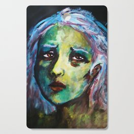 Portrait(Girl of Green and Heart of Sorrow) Cutting Board