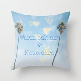 Warm Salt Air Throw Pillow