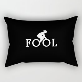 Bike Fool - Cyclist Fan Gift Rectangular Pillow