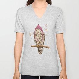 Happy Owl Unisex V-Neck