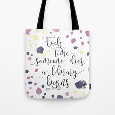 The Sky is Everywhere quote design Tote Bag