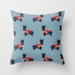 Scottish Terrier dog breed custom pet portrait funny dog pattern dog gifts all breeds Throw Pillow