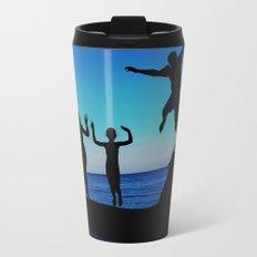 Brownie's beach silhouette Metal Travel Mug