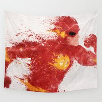 league Wall Tapestries featuring Speed by Melissa Smith