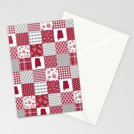 Alabama university crimson tide quilt pattern college sports alumni gifts Stationery Cards