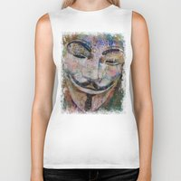 grafitti Biker Tanks featuring Anonymous by Michael Creese