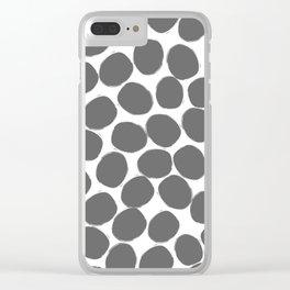 Humongous Dots Ahoy Clear iPhone Case
