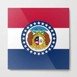 Missouri State Flag Metal Print