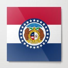 Missouri State Flag Metal Print