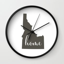 Idaho is Home Wall Clock