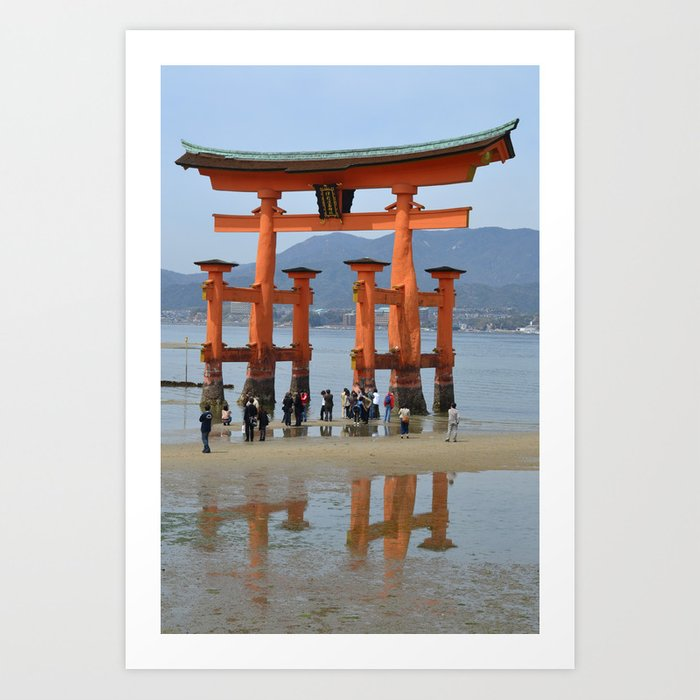 The Gate of Itsukushima Shrine Art Print