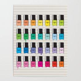 Pantone color Nail Polish Spring color Poster