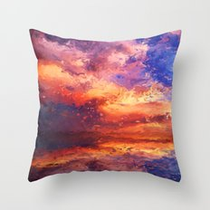 Sunset Abstraction Throw Pillow