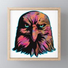 Eagle Silhouette Pattern Framed Mini Art Print