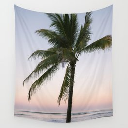 The pastel palm tree | Sunset photography in Santa Teresa Costa Rica  Wall Tapestry