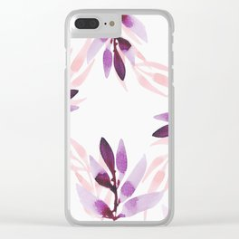Floral Clear iPhone Case
