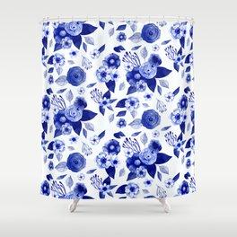 Flowers Print Shower Curtain
